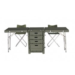Folding desk suitcase with...