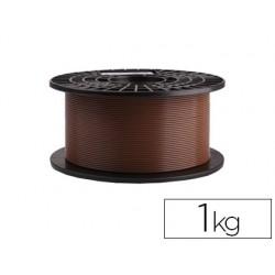 Filamento 3d colido gold pla 1,75 mm 1 kg marron