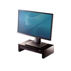 Soporte fellowes para monitor designer suites ajustable 3 alturas con bandeja negro 406x111x244 mm hasta 18 kg