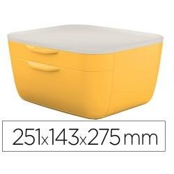 Fichero cajones de sobremesa leitz cosy 2 cajones amarillo