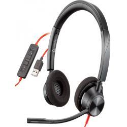 Auricular plantronics blackwire 3320 diadema biaural cable usb-a