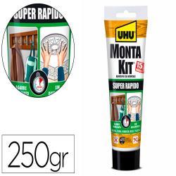 Adhesivo de montaje uhu montakit super rapido tubo de 250 gr