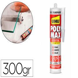 Adhesivo de montaje uhu poly max express cristal cartucho de 300 gr