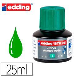 Tinta rotulador edding pizarra blanca btk-25 color verde frasco de 25 ml