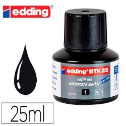 Tinta rotulador edding pizarra blanca btk-25 color negro frasco de 25 ml