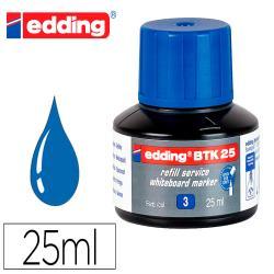 Tinta rotulador edding pizarra blanca btk-25 color azul frasco de 25 ml