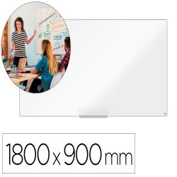 Pizarra blanca nobo ip pro acero vitrificado magnetico 1800x900 mm