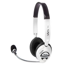 Auricular ngs headset msx6 pro con microfono diadema ajustable jack 3,5 mm y control de volumen