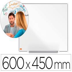 Pizarra blanca nobo ip pro acero vitrificado magnetico 600x450 mm