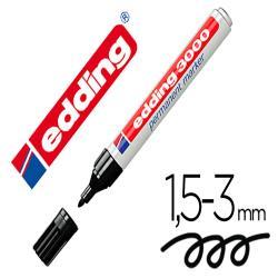 Rotulador edding marcador permanente 3000 negro n.1 punta redonda 1,5-3 mm blister de 1 unidad