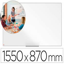 """Pizarra blanca nobo ip pro 70"""" lacada magnetica 1550x870 mm"""