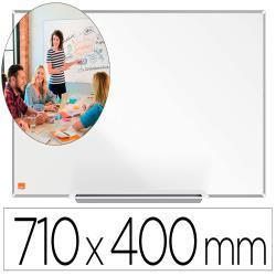 "Pizarra blanca nobo ip pro 32"" acero vitrificado magnetico 710x400 mm"