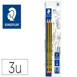 Lapices de grafito staedtler noris n 2 hb blister de 3 unidades