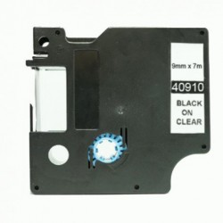 DYMO D1 40910 NEGRO TRANSPARENTE CINTA ROTULADORA COMPATIBLE