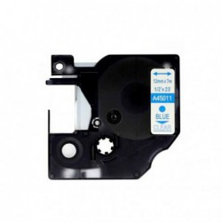 Compatible DYMO D1 45011 AZUL TRANSPARENTE CINTA ROTULADORA