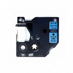 Compatible DYMO D1 45016 NEGRO AZUL CINTA ROTULADORA S0720560