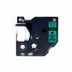 Compatible DYMO D1 45019 NEGRO VERDE CINTA ROTULADORA S0720590