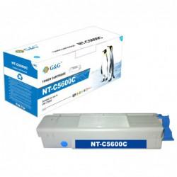 G&G OKI C5600 C5700 CYAN CARTUCHO DE TONER COMPATIBLE 43381907