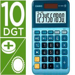 Calculadora casio ms-100em sobremesa 10 digitos tx +/- tecla doble cero color azul