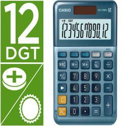 Calculadora casio ms-120em sobremesa 12 digitos tx +/- tecla doble cero color azul