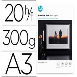 Papel hp ink-jet foto glossy premium a3 300 gr 20 hojas