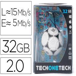 Memoria usb tech on tech balon de futbol gol one 32 gb