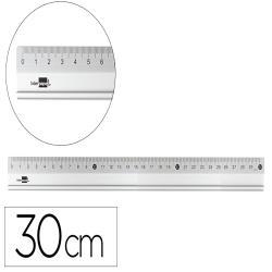 Regla liderpapel 30 cm aluminio color metalico