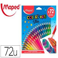 Lapices de colores maped color peps star caja de 72 colores surtidos