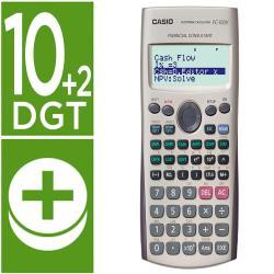 Calculadora casio fc-100v financiera 4 lineas 10+2 digitos almacenamiento flash calculo de ganancias con tapa