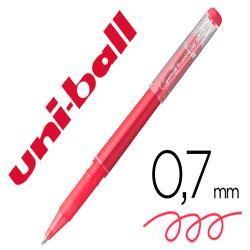 Rotulador uni-ball roller uf-222 tinta gel borrable 0,7 mm rojo