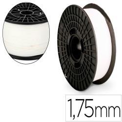 Filamento 3d colido pla nylon 1,75 mm 1 kg blanco
