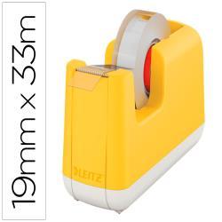 Portarrollo sobremesa leitz cosy plastico para cintas 33 mt amarillo