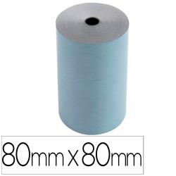 Rollo sumadora exacompta safe contact termico 80 mm x 80 mm 52 g/m2