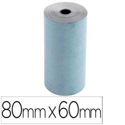 Rollo sumadora exacompta safe contact termico 80 mm x 60 mm 52 g/m2