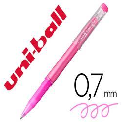 Rotulador uni-ball roller uf-222 tinta gel borrable 0,7 mm rosa