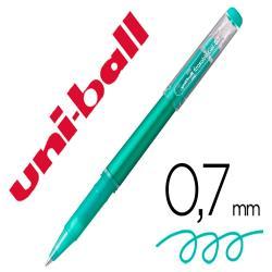 Rotulador uni-ball roller uf-222 tinta gel borrable 0,7 mm verde
