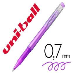 Rotulador uni-ball roller uf-222 tinta gel borrable 0,7 mm violeta