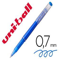 Rotulador uni-ball roller uf-222 tinta gel borrable 0,7 mm azul