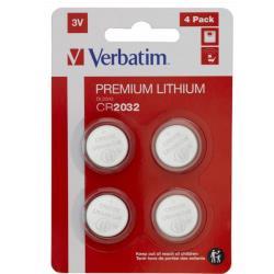 Verbatim 49533 LITHIUM BATTERY CR2032 3V 4 PACK