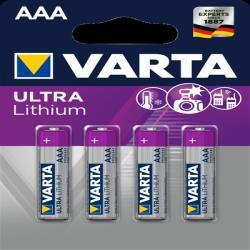 Varta 6103301404 ULTRA LITHIUIM AAA BLI 4