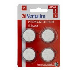 Verbatim 49535 LITHIUM BATTERY CR2450 3V 4 PACK