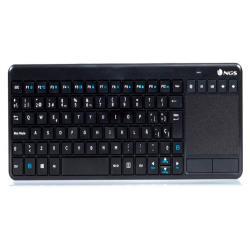 Teclado ngs warrior inalambrico touch pad con teclas multimedia
