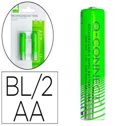 Pila q-connect alcalina aa recargable blister de 2 unidades