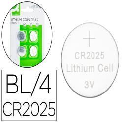 Pila q-connect tipo boton litio cr2025 3v blister de 4 unidades