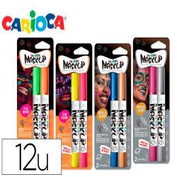 Barra de maquillaje carioca mask up neon / metallic caja de 12
