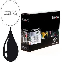Toner laser lexmark c736h1kg 12000 paginas