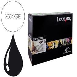 Toner lexmark laser x654x31e / x654de/ 654 / 656de / 658de negro 36000 paginas