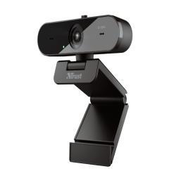 Camara webcam trust taxon con microfonos duales y filtro de privacidad 2560x1440 2k qhd 1440p usb 2.0 color negro