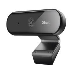 Camara webcam trust tyro con microfono y tripode 1920x1080 full hd usb 2.0 color negro