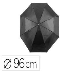 Paraguas plegable de poliester 96 cm de diametro apertura manual cierre con velcro con funda individual